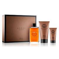 Наборы для мужчин Gucci Guilty Absolute Pour Homme set edp 90 ml. + гель для душа 150 ml. + бальзам после бритья 50 мл. мужской  оригинал