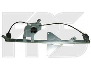 Левый стеклоподъемник передней двери (без панели) Пежо Партнер (2008-2012) -мотор / PEUGEOT PARTNER (2008-2012)