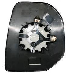 Левый вкладыш зеркала Ситроен Берлинго -12 без обогрева выпуклый / CITROEN BERLINGO (2008-2012)