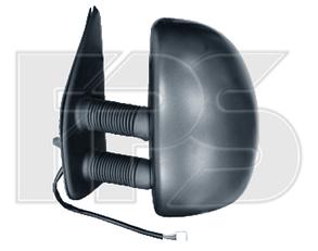Левое зеркало Пежо Боксер -06 электрический привод; с обогревом; текстура; выпуклое; long arm 99- / PEUGEOT BOXER (1994-2002)