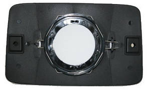 Левый вкладыш зеркала Пежо J5 -94 без обогрева выпуклый / PEUGEOT J5 (1981-1994)