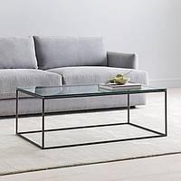 Кофейный журнальный столик в стиле LOFT (NS-970003368), вис-450мм, шир-420мм, довж-1000мм,, фото 1