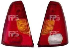 Левый задний фонарь желто-красный, без платы Рено Логан 04-08 / RENAULT LOGAN (2004-2013)