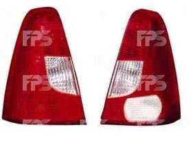 Левый задний фонарь бело-красный без платы Рено Логан 04-08 / RENAULT LOGAN (2004-2013)