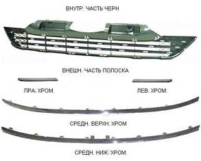 Левая решетка Хонда ЦРВ 06-12 в бампере: внешняя часть полоска (хром.) / HONDA CRV (2006-2012)