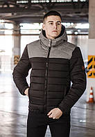 Куртка мужская зимняя Rise черный с серым