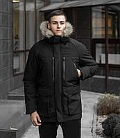 Куртка парка зимняя мужская Seniora udacha черный