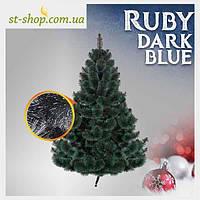 Сосна искусственная Ruby с шишками высота 1,5 метра Темно синий