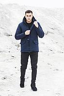 Куртка парка зимняя мужская Soft Shell Tetris синий