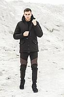 Куртка парка зимняя мужская Soft Shell Tetris черный