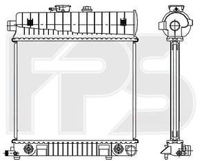 Радиатор Мерседес CLK W208 (1997-2003) / MERCEDES CLK W208 (1997-2003)