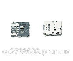 "Sim connector Samsung S6 Edge G925F, A6 2018, J330, J530, J730 ""Original"""