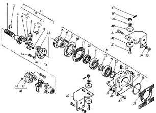 94 Привід гідравлічних насосів ДИЗ 4014д-4618 львівського навантажувача