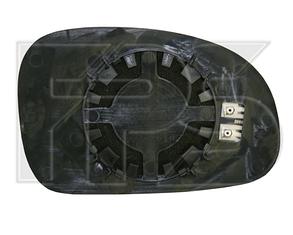 Левый вкладыш зеркала Пежо 406 95-99 с обогревом асферический / PEUGEOT 406 (1995-1999)