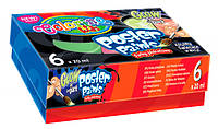 Фарби гуашеві флуоресцентні Colorino 6 кольорів в картонній упаковці (42635PTR)