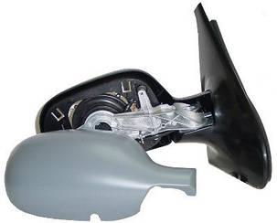 Левое зеркало Рено Клио 01-05 электрический привод; с обогревом; под покраску; асферическое / RENAULT CLIO/SYMBOL (1998-2008)