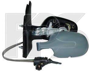 Левое зеркало Рено Меган -02 механический привод; без обогрева; под покраску; асферическое / RENAULT MEGANE (1995-2003)