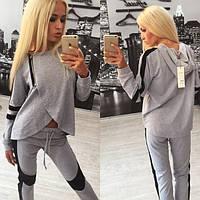 Женский серый спортивный костюм Nia c-310560