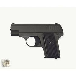 Пистолет пули в коробке метал.