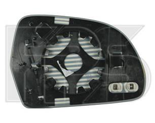 Правый вкладыш зеркала Ауди A4 (B8) с обогревом выпуклый хромир. / AUDI A4 B8 (2007-)
