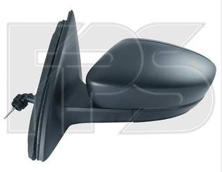 Правое зеркало Шкода Рапид электрический привод; с обогревом; выпуклое; 5 pin / SKODA RAPID (2012-)
