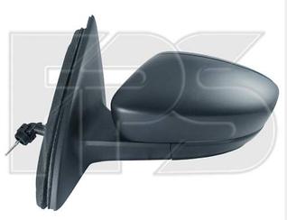 Левое зеркало Шкода Рапид механический привод, без обогрева, текстура выпуклое / SKODA RAPID (2012-)