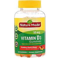 Nature Made, Жевательные витамины для взрослых, Витамин D3, 90 жевательных таблеток