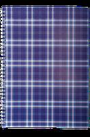 Тетрадь на пружине, 48 листов, фиолетовая клетка, картонная обложка
