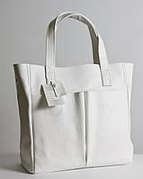 Женская кожаная сумка белая. Модель 02 белый флотар