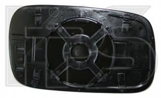 Левый вкладыш зеркала Вольксваген Кадди 95-04 с обогревом плоский / VOLKSWAGEN CADDY (1995-2004)