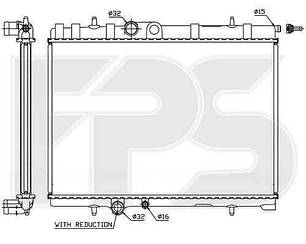 Радиатор Пежо 307 01-07 / PEUGEOT 307 (2001-2005)