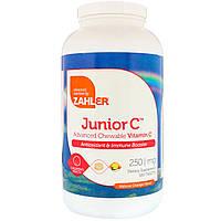 Жевательный витамин C Zahler, для подростков, натуральный апельсиновый вкус, 250 мг, 500 табл