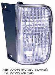 Левый задний фонарь Ниссан Примастар 07-14, в бампере, функция противотуманки / NISSAN PRIMASTAR (2007-)