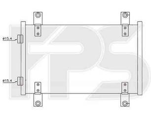 Радиатор кондиционера Пежо Боксер 02-06 / PEUGEOT BOXER (2002-2006) Код: FP 20 K61