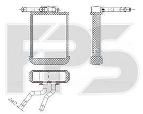 Печка Мерседес ML-Class W163 (1997-2005) / MERCEDES ML-Class W163 (1997-2005)