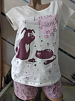 Женская пижама футболка + шорты 44-50р Pink Secret (Турция)