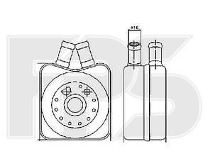 Масляный радиатор Вольксваген Шаран (1995-2000) / VOLKSWAGEN SHARAN (1995-2000)