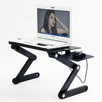 Столик трансформер для ноутбука Laptop Table T8 / подставка для ноутбука