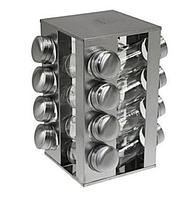 Набор баночек для специй Benson BN-175 из 16 сосудов / спецовник 16 шт на подставке