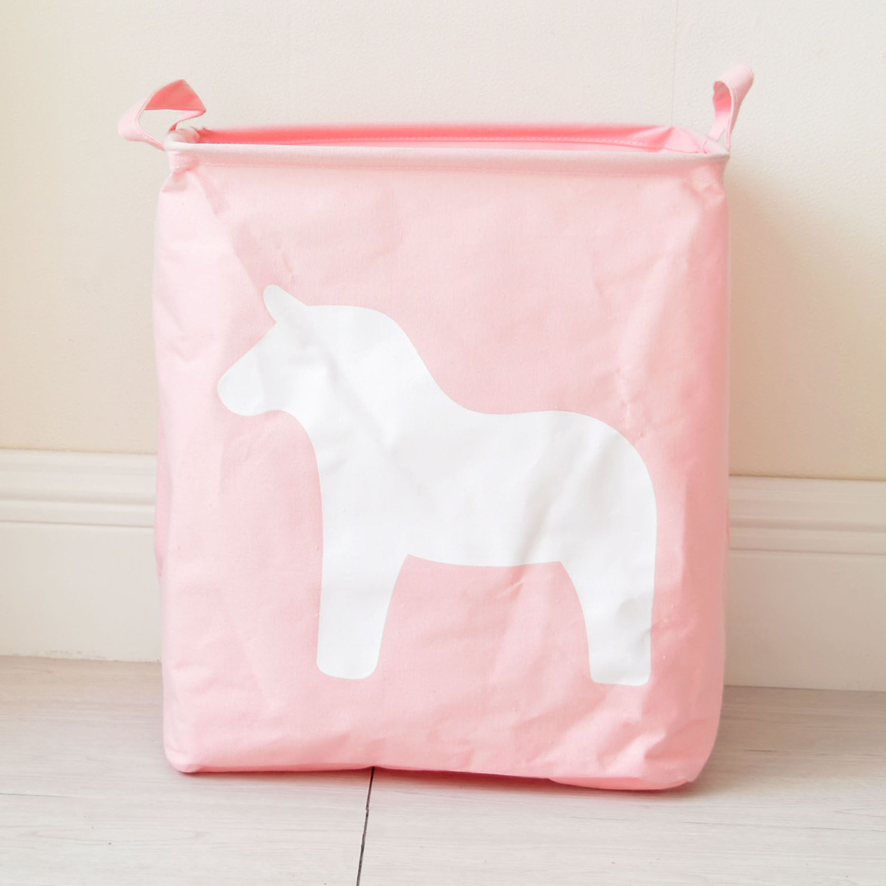 Корзина для игрушек, белья, хранения Лошадь, розовый Berni Home