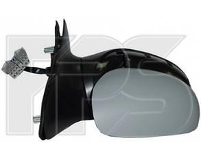 Правое зеркало Пежо 406 99-03 электрический привод; с обогревом; под покраску; выпуклое / PEUGEOT 406 (1995-1999)