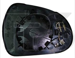 Левый вкладыш зеркала Пежо 308 07-11 с обогревом выпуклый / PEUGEOT 308 (2007-2013)