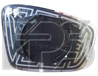 Правый вкладыш зеркала Шкода Рапид с обогревом, выпуклое / SKODA RAPID (2012-)