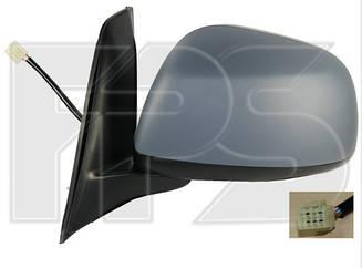 Левое зеркало Сузуки SX 4 06- электрический привод; с обогревом; под покраску; выпуклое; (японская версия) / SUZUKI SX 4 (2006-2013)