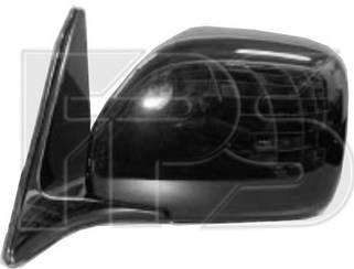 Левое зеркало Тойота Ланд Крузер J100 электрический привод; без обогрева; под покраску; выпуклое / TOYOTA LAND CRUISER J100 (1998-2008)
