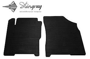Chery A13 2008- Комплект из 2-х ковриков Черный в салон
