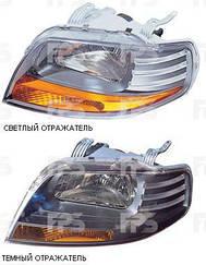 Левая фара Шевролет Авео T200 с 11.05 года мех. (светлый отражатель) под лампу h4+w5w / CHEVROLET AVEO T200 (2004-2006)
