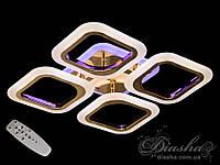 Потолочная люстра с диммером и LED подсветкой, цвет золото, 55W AS8060/4G LED 3color dimmer, фото 1