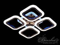 Потолочная люстра с диммером и LED подсветкой, цвет чёрный хром, 55W AS8060/4BHR LED 3color dimmer, фото 1