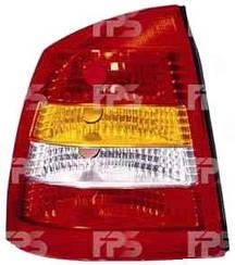 Левый задний фонарь кузов седан, красно-белый, без платы Опель Астра G / OPEL ASTRA G (1998-2010)